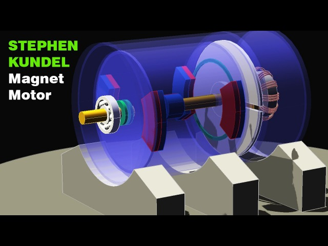 Free Energy Generator, STEPHEN KUNDEL Permanent Magnet Motor, Magnetic Motor
