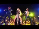 Jennifer Lopez and Gente de Zona singing live in New York City