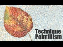 Speed Painting   Technique Pointillism   Autumn leaf   Gouache   IOTN