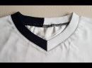 Playera Cuello V DIY How to sew a V Neck Escote V Tutorial Jak uszyć dekolt w serek