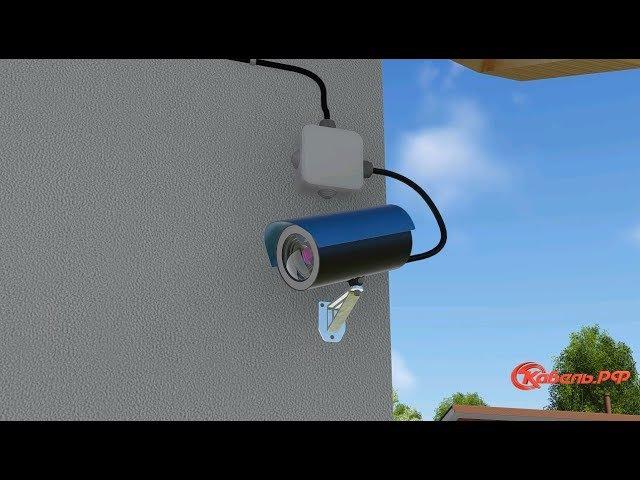 Установка видеонаблюдения для частного дома Как подключить видеонаблюдение своими руками