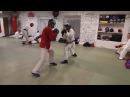 Тренировка по армейскому рукопашному бою - спарринг.