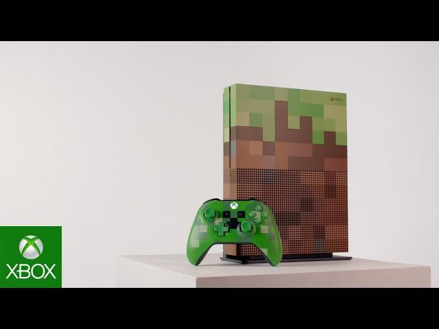 Microsoft анонсировала Xbox One S в стиле Minecraft
