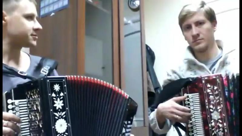 Два народных гармониста... И.Шипков и А.Шломан