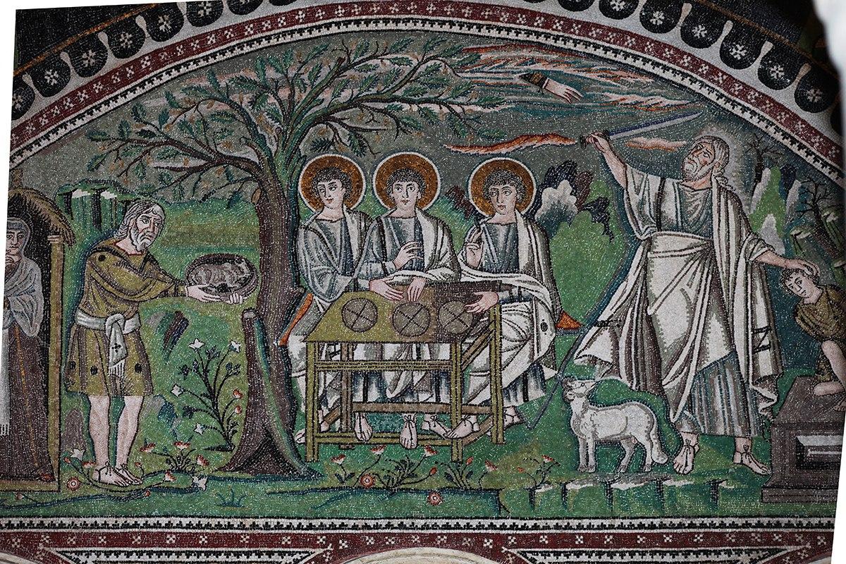 Гостеприимство Авраама Мозаика