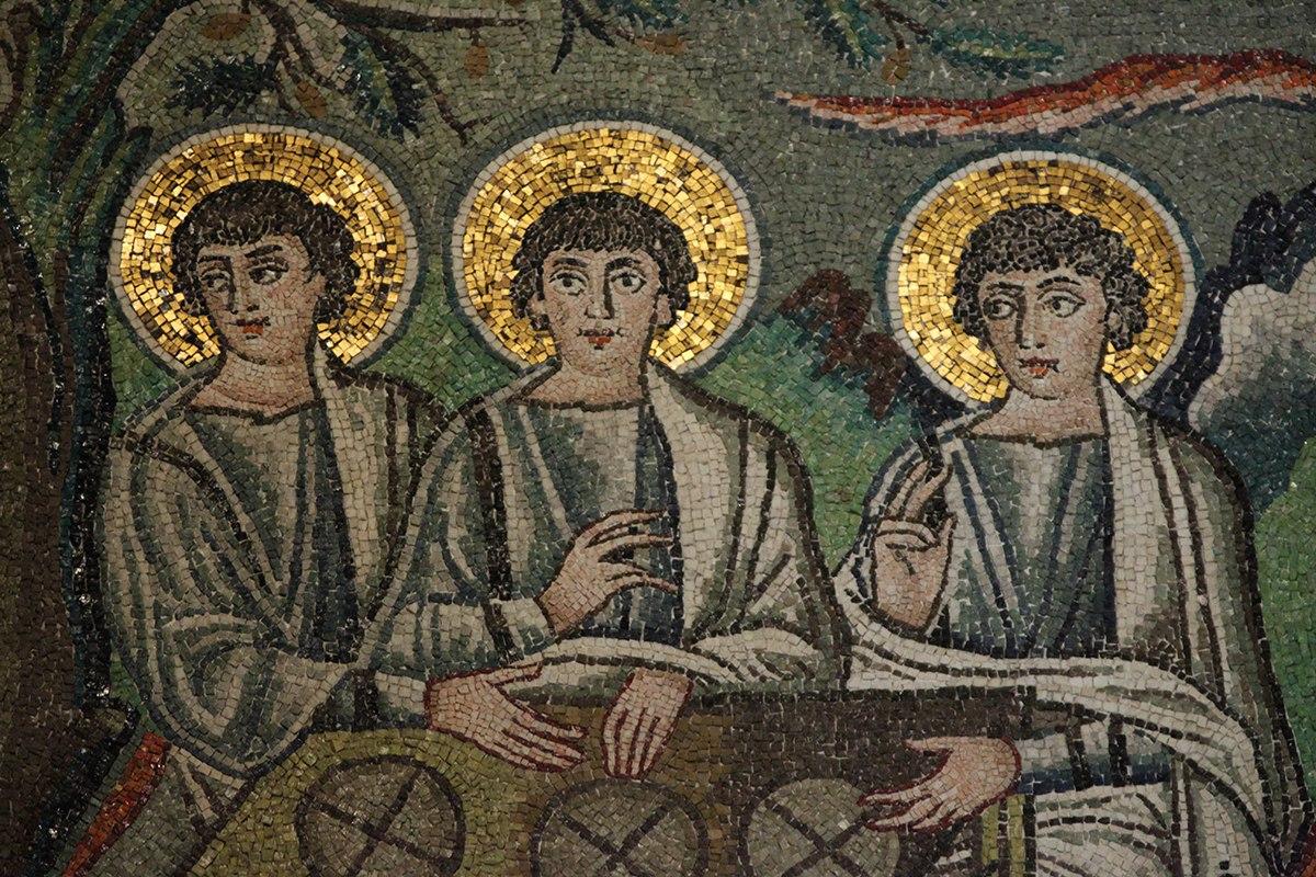 Троица (Ангелы) Фрагмент