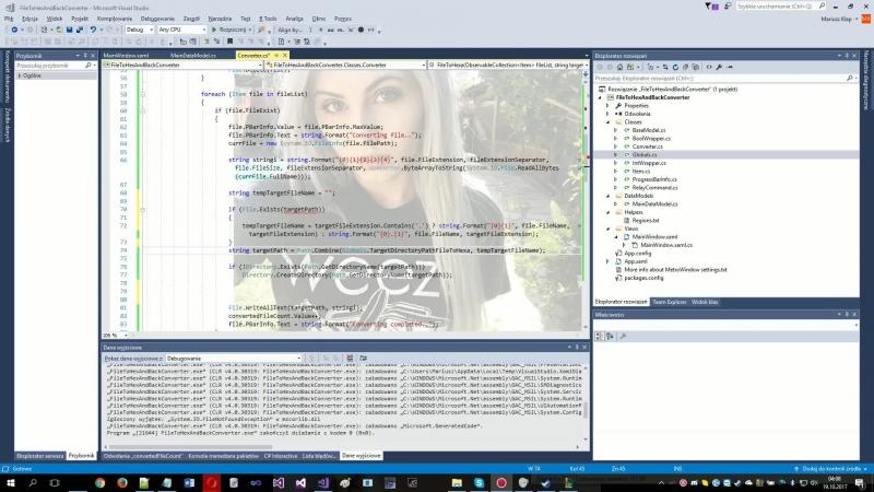 Little file converter in Visual Studio (PL/ANG pls)