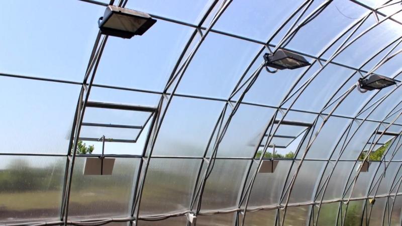 Круглогодичная фермерская теплица под сотовый поликарбонат