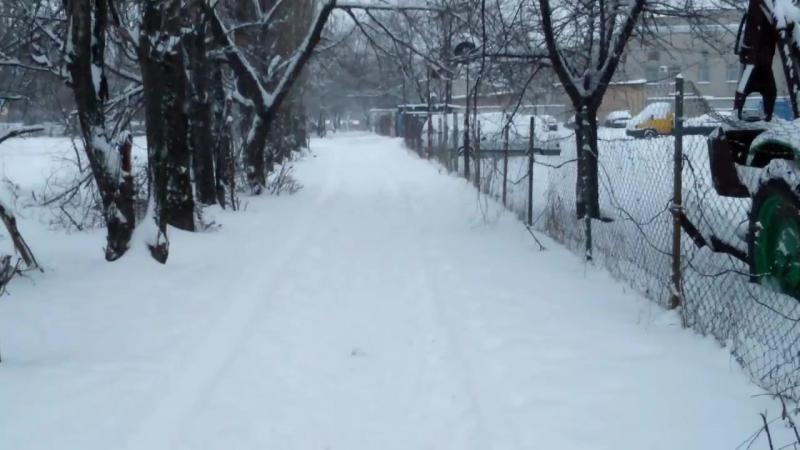 Сильный снегопад в Воронеже 21.01.2018