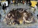 3D рисунки мелками на асфальте обман зрения 720