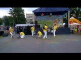 Выступление барабанщиков на празднике День поселка - 28.07.2017