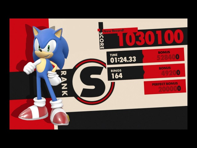 Sonic Forces perfect run, S-Rank, 1M points. PS4 gameplay.