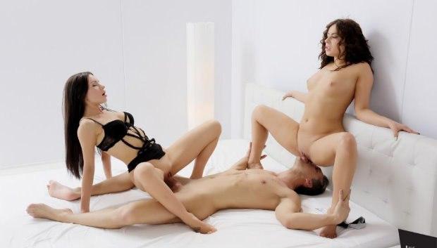 WOW Fantasy FFM threesome with European babes Nikki Waine and Sasha Rose # 1