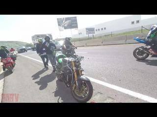 Insane motorcycle crashes drifting fails on highway moto crash street bike drift