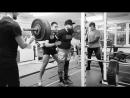 Алексей Никулин ГУДМОНИНГ наклоны 140 кг на 5 раз, 150 на 5 раз, 160 на 5 раз и часть рабочих 170 кг на 5 раз