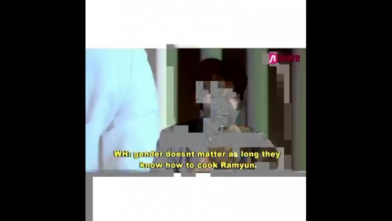 Wonho and ramyun