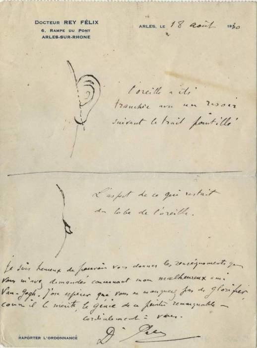 рисунок лечащего врача Ван Гога