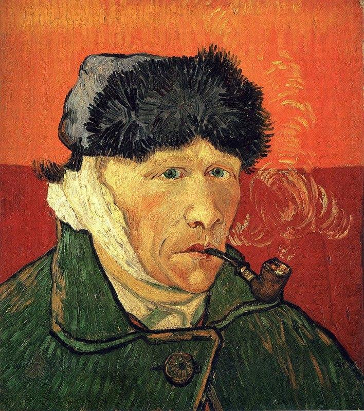 """""""Автопортрет с отрезанным ухом и трубкой"""" Ван Гога"""