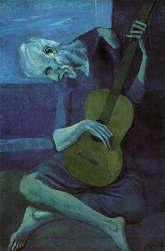 """""""Старый гитарист"""" Пабло Пикассо"""