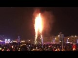 В Южно-Сахалинске в новогоюнюю ночь сгорела главная городская ёлка