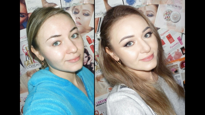 Ксения Саватеева. Идеальный макияж для свидания (до и после)