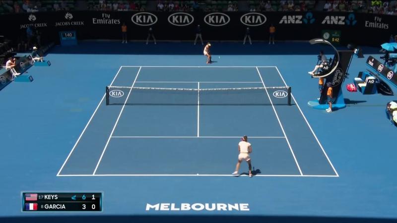 Теннис. Женщины. Australian Open 2018. Хард Киз Мэдисон - Гарсия Каролин 2:0 (6:3, 6:2)
