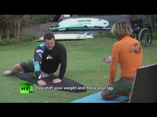 Free to be yourself. Surf master  disabled pupil inspire each other (Trailer) P