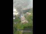 На Зелёной горит жилой дом!