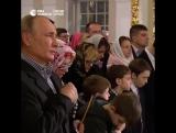 Путин встретил Рождество с прихожанами Симеоновской церкви