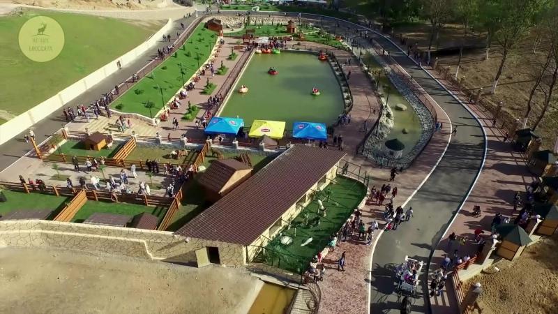 Наш калужский зоопарк с высоты птичьего полета. ЭКО ПАРК БИОСФЕРА