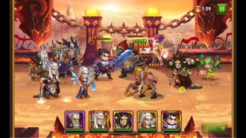 Hero Wars 60k less power team wins without ishmael _ победа без исмаила 60к мень