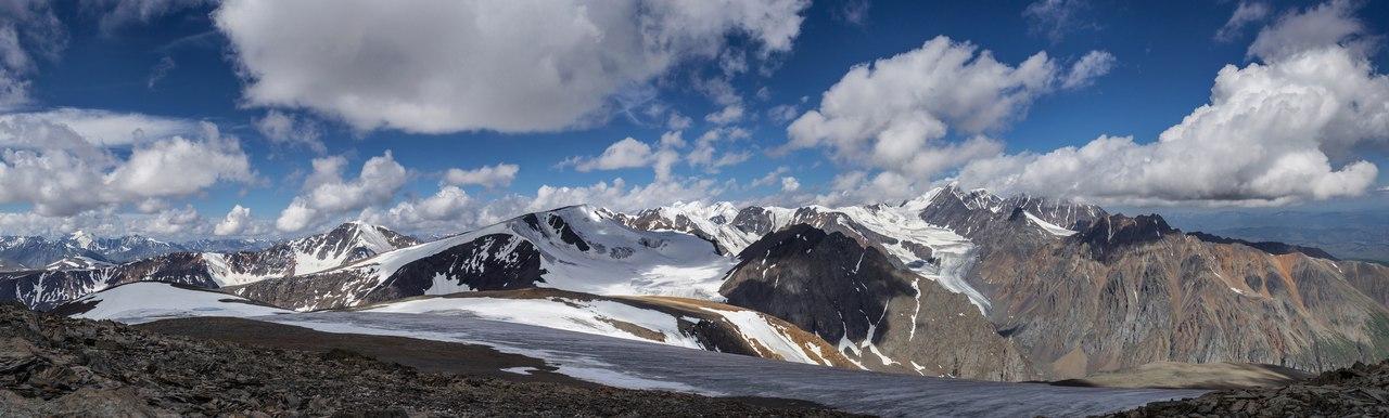 Панорама с вершины Купола трех озер