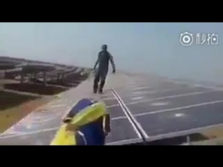 Построенная китайцами солнечная электростанция в Африке подверглась атаке вандал