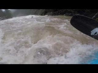 Rowdy swim down a flooded Wind river
