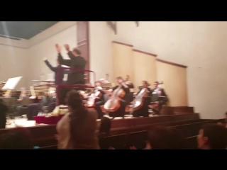 Концерт симфонического оркестра. Дирижер Ли Гын Ву.mp4