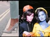Разноцветные модели на показе Moschino