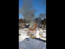 Пожар в Красном Яру