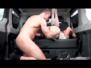 Intense backseat fuck session with gorgeous czech babe therese bizzare