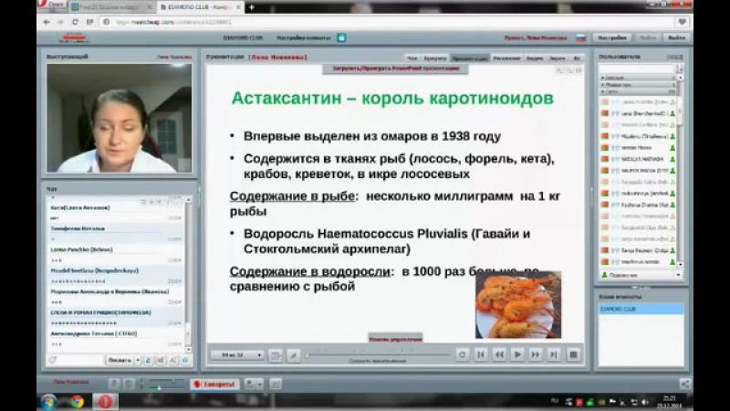 Астаксантин - король антиоксидантов. Вэбинар Елены Новиковой