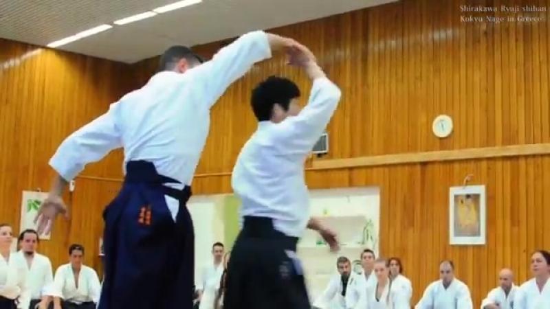 合気道‐手を合わせて柔らかく投げる Aikido Throwing softly without grabbing.mp4