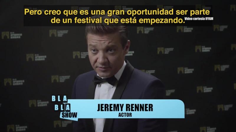 BLA BLA SHOW - JEREMY RENNER - INTERNATIONAL FILM FESTIVAL AWARDS MACAO - 08.12.2017