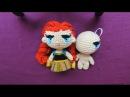Como bordar fácil los ojos de muñeca a crochet 2