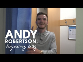 New signing vlog | Andy Robertson's first day at Liverpool FC