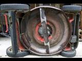 Процесс заточки ножей газонокосилки