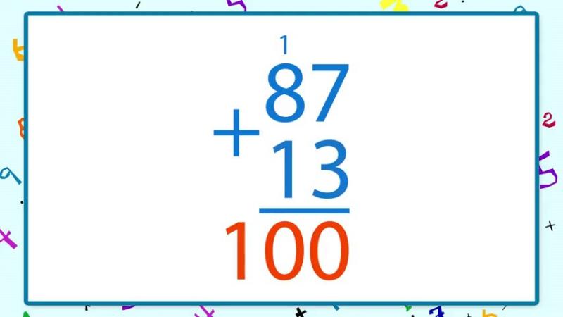 Письменные приемы сложения вида 87 13 _ урок 25, математика 2 класс