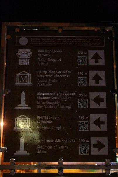 Пиктограмма музея — говно на палке. Какой-то мудак решил поставить колону к нижегородскому кремлю. Это позор, братцы.