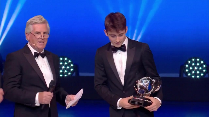Leclerc honoured at FIA Prize Giving