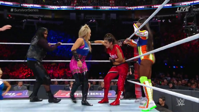 WWE.Survivor.Series.2017.Team RAW (Alicia Fox, Asuka, Bayley, Nia Jax Sasha Banks) vs.Team SmackDown LIVE (Becky Lynch,Carmella