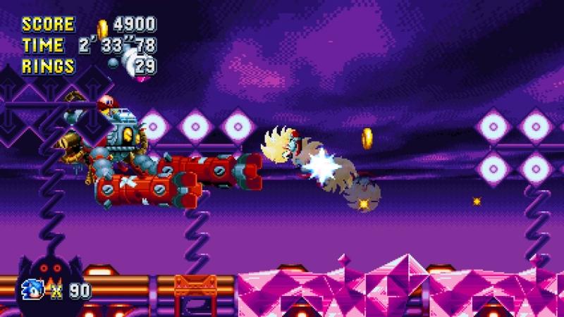 Финальный Босс Sonic mania (Все изумруды хаоса)