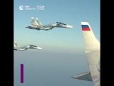 Самолет Владимира Путина на пути в Каир